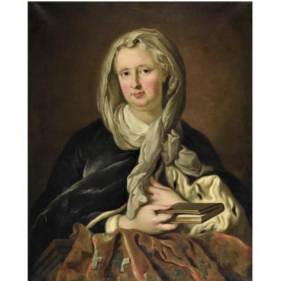 Louis Michel van LOO  - Portrait d'Une Duchesse - Epoque Louis XV -