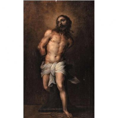 Abraham Van DIEPENBEECK - Le Christ aux Liens - Huile sur panneau - XVIIème