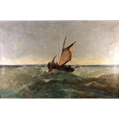 Emile Godchaux - Marine - Huile Sur Toile