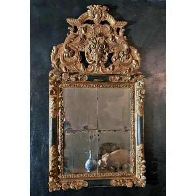 Richly Carved And Gilted Mirror From  First Half 18th Century, Southern France,