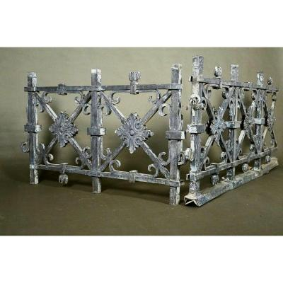 A Zinc Sheet Balustrade, Charles X Period, France, Early 19th Century
