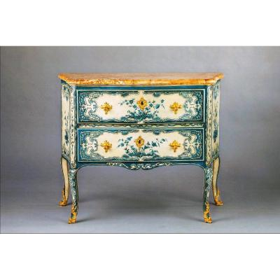 "Important Commode In Lacquer ""vernis Martin"", Circa 1750"
