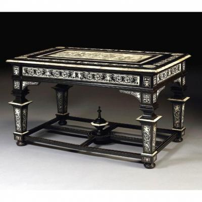 Large Center Table By Ferdinando Pogliani (milan 1832-1899), Circa 1870