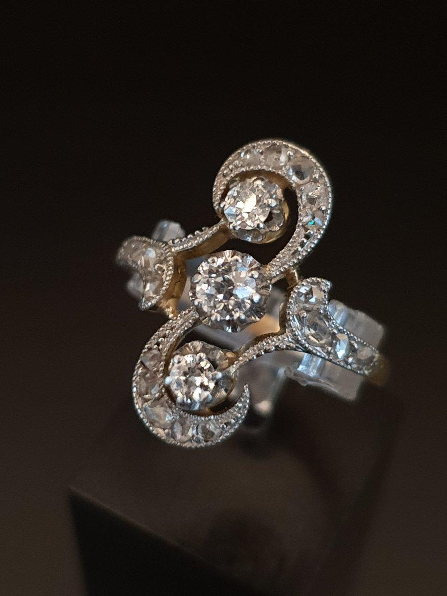 Bague Ancienne Vers 1900 Or Et Diamants