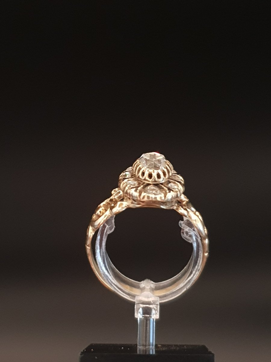 Bague XVIIIe Or Et Diamants