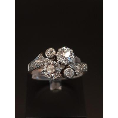 Bague Toi Et Moi Ancienne Vers 1900 Or, Diamants