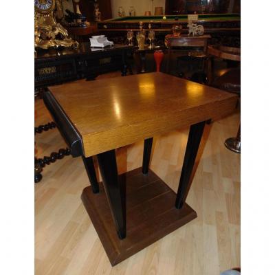 Table Basse En Chêne Blond. D´époque Art Déco