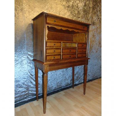 Cabinet En Noyer, érable Moucheté Et Filet De Bois-de-rose. D´époque Louis-philippe