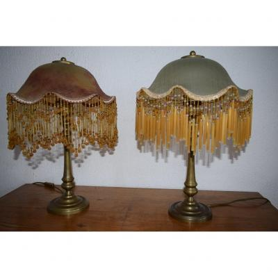 Pair Of Lamp Style 1900