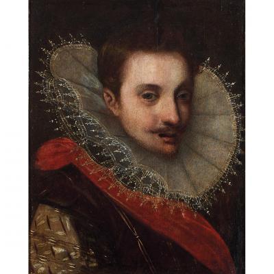 Peinture Du XVIème. Portrait d'Un Aristocrate.