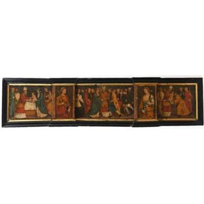 Grande Prédelle. Élément De Retable. Renaissance Italienne. XVI./xve