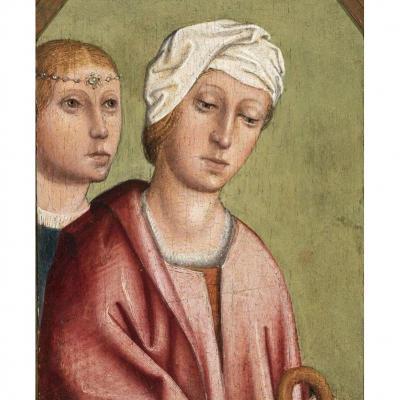 Peinture Haute Époque Du XVème. Panneau.