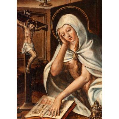 Marie-Madeleine Dans Le Désert. Grand Panneau Du XVIème
