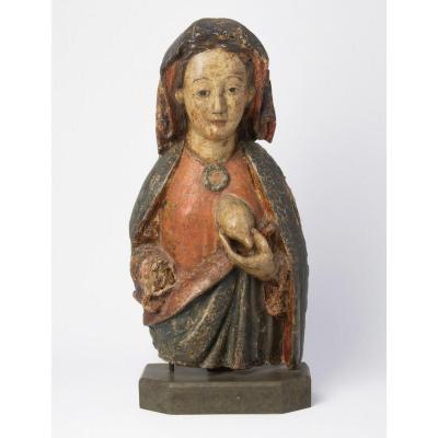 Maria Lactans/Vierge Allaitante. Buste Haute Epoque. Ca 1500