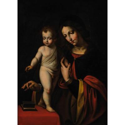 Grande Peinture Du XVIIème, Dans Le Goût De Bernardino Luini.