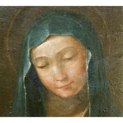 La Vierge à l'Enfant. École Italienne Du XVIIe.