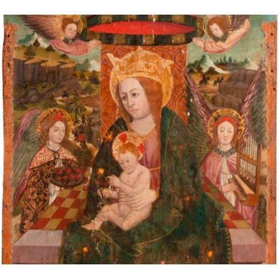 Peinture monumentale Haute Epoque. École Espagnole. XV-XVIe