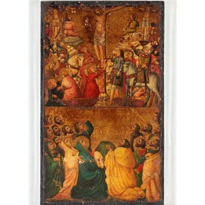 Crucifixion. Primitifs italiens. Époque XV-XVIème siècle.