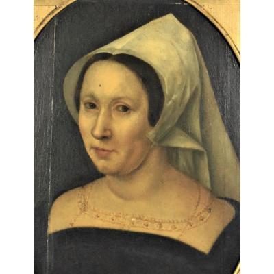 École Flamande Du XVIIème. Portrait De Femme