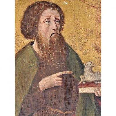 Saint Jean-baptiste. Peinture Du XVème Siècle. Tempera Et Or Sur Panneau.