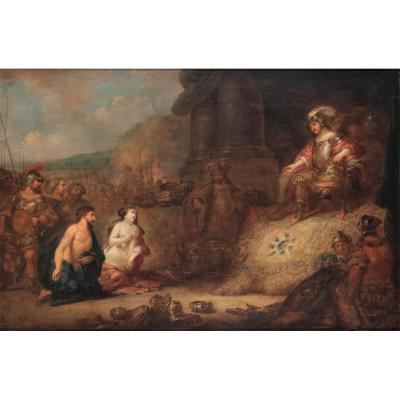 École hollandaise du XVIIème siècle, entourage de Rembrandt (1606-1669).