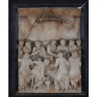 Pays-Bas, Malines, Relief En Albâtre Du XVIème Siècle