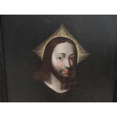 Le Christ En Buste. École Espagnole Du XVIIème Siècle