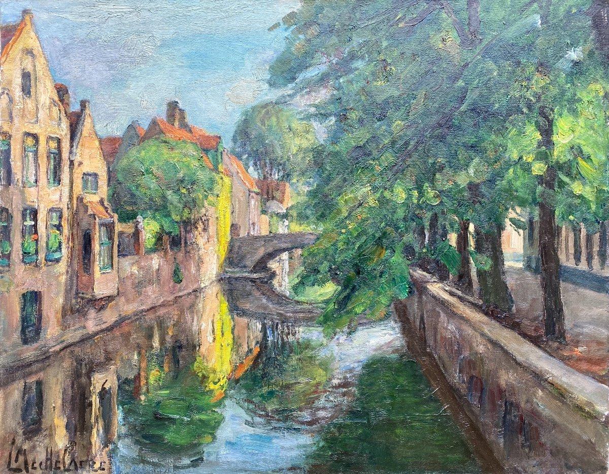 A View Of Bruges, Mechelaere Leo, Bruges 1880 – Erlangen, Germany 1964