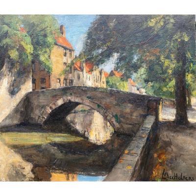 Vue De Bruges,  Mechelaere Leo, Bruges, Belgique 1880 - Erlangen, Allemagne 1964