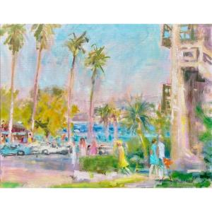 California Coastal Scene,  Janerand Daniel, Le Marais, Paris 1919 - 1990