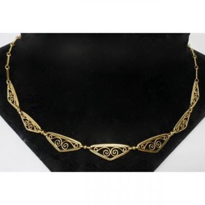 Drapery Necklace End XIXth - Beginning XXth Century