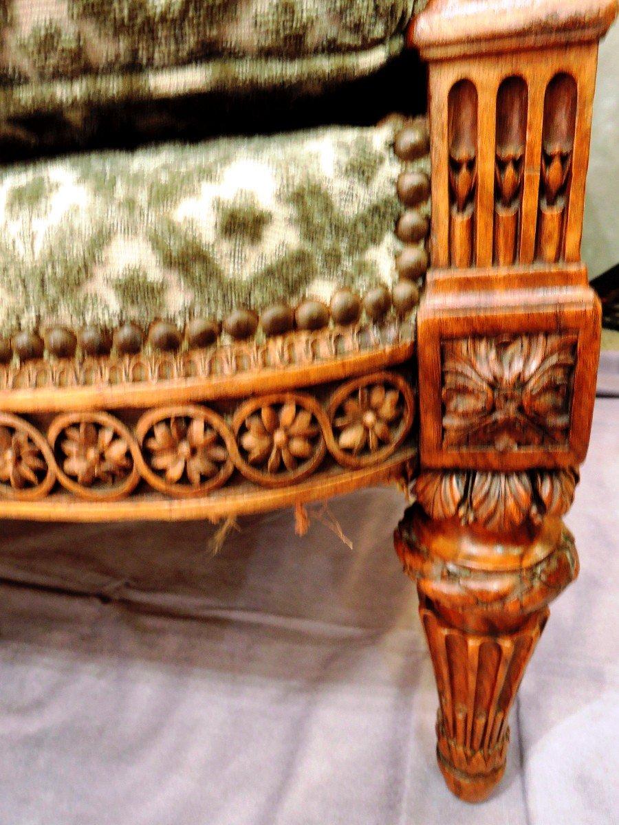 Petit Canapé  Dans Le Goût De SENE, Epoque XIXè Siècle