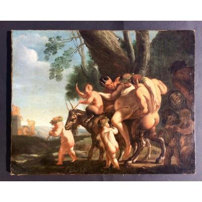 Bacchus Revient De Indie. Pietro Testa (lucchesino)