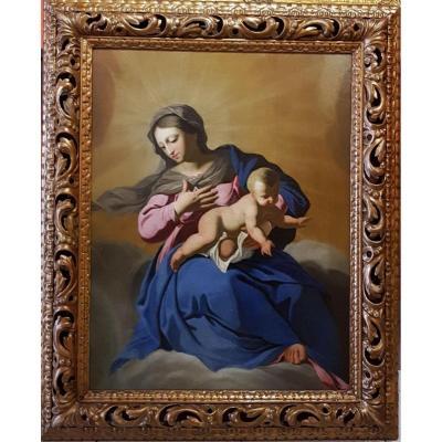 Virgin And Child, 17th Century Painter