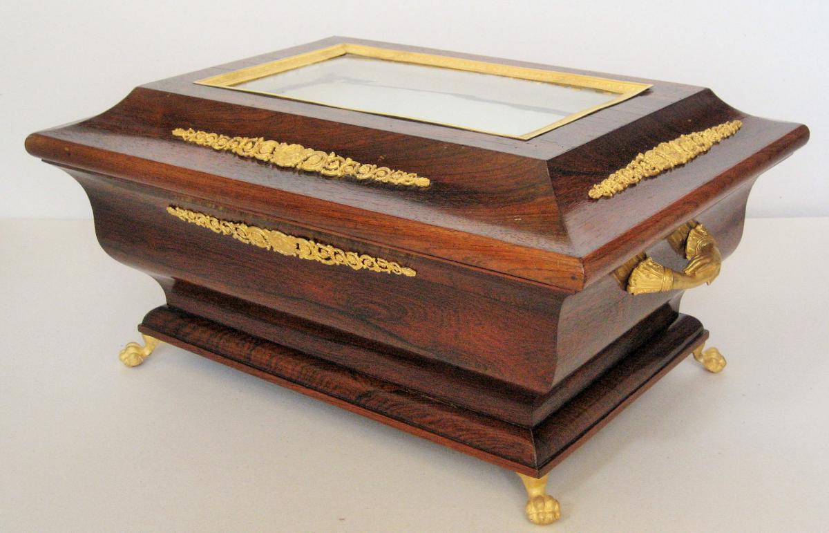 Coffret De Mariage Palissandre Et Bronzes Dorés Napoléon III