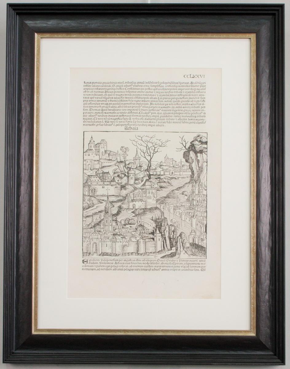 Incunable, 1493, Schedel, Chroniques De Nuremberg, Encadrée
