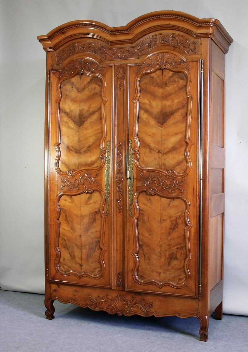Cabinet Rennaise In Cherry, Molded And Carved