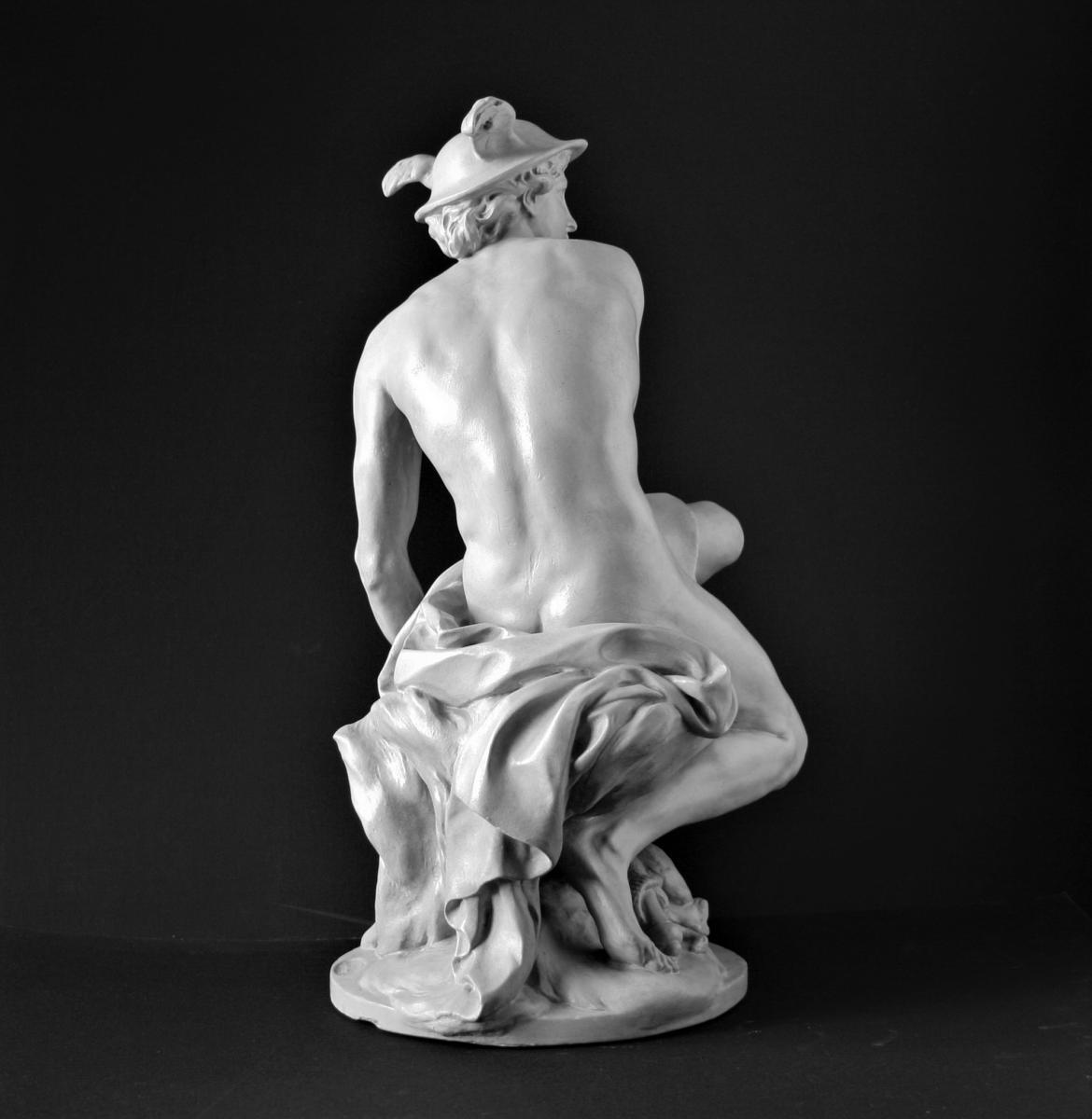 Mercure Attachant Ses Talonnières, d'Aprés Jean-baptiste Pigalle, Atelier De Moulage Du Louvre