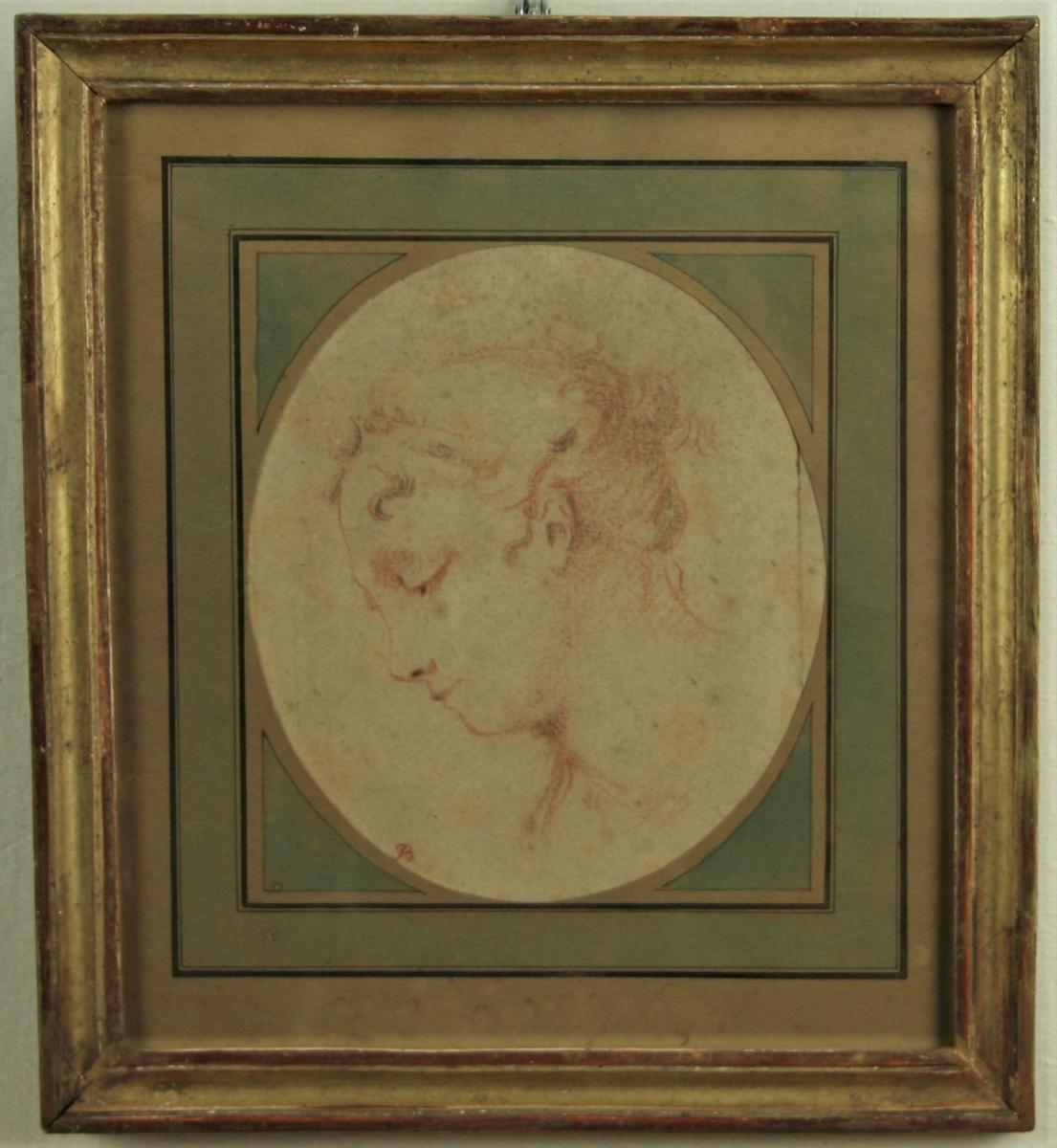 Drawing, Portrait Of Young Girl, French School Of Eighteenth Century