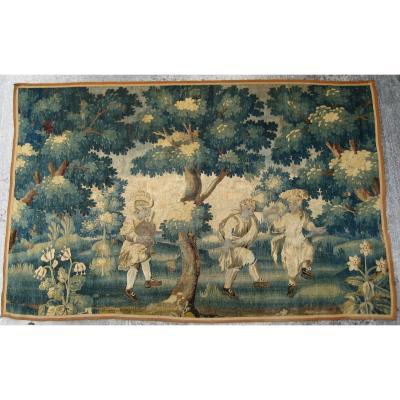 Tapisserie d'Aubusson, Verdure Animée, Milieu Du XVIIIeme Siècle