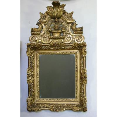 Mirror In Wood And Stucco Gilded Regency