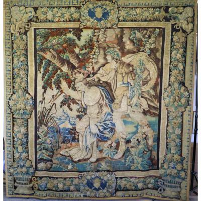 Bacchus Et Ariane, Tapisserie d'Aubusson, XVIIeme Siècle