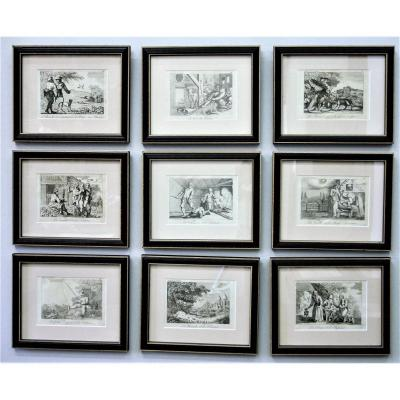 Fables De La Fontaine, Set Of 51 Framed Prints, 1818