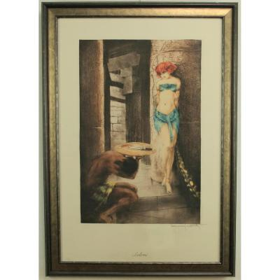 Louis Icart, Salome, Print In Color, Framed, 1928.