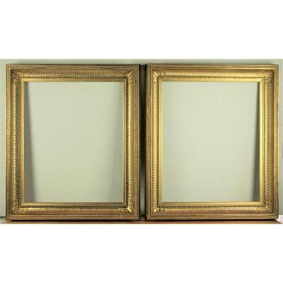 Pair Of Canvas Frames, 65 X 54 Cm