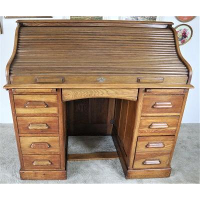 Bureau anglais En Chêne, Lebus Desk,