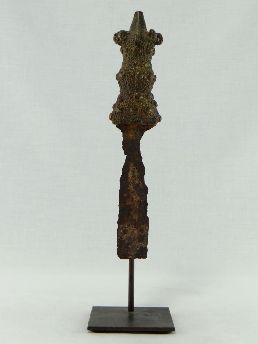 Ivory Coast Ethnic Baoulé 19th, Dagger Bronze.