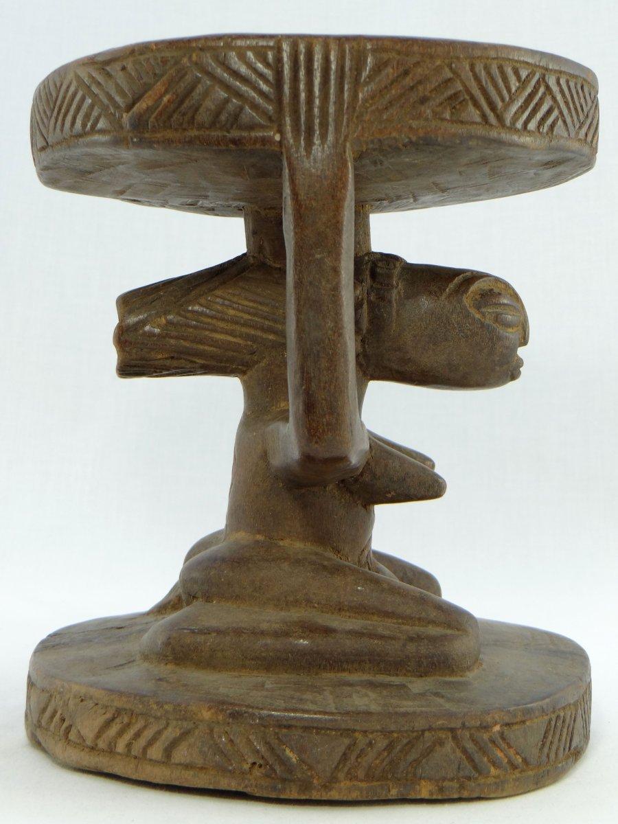 Rép. Dém. Du Congo,  Peuple Luba/Hemba, Siège Cariatide Bois Sculpté Personnage Féminin.  -photo-4