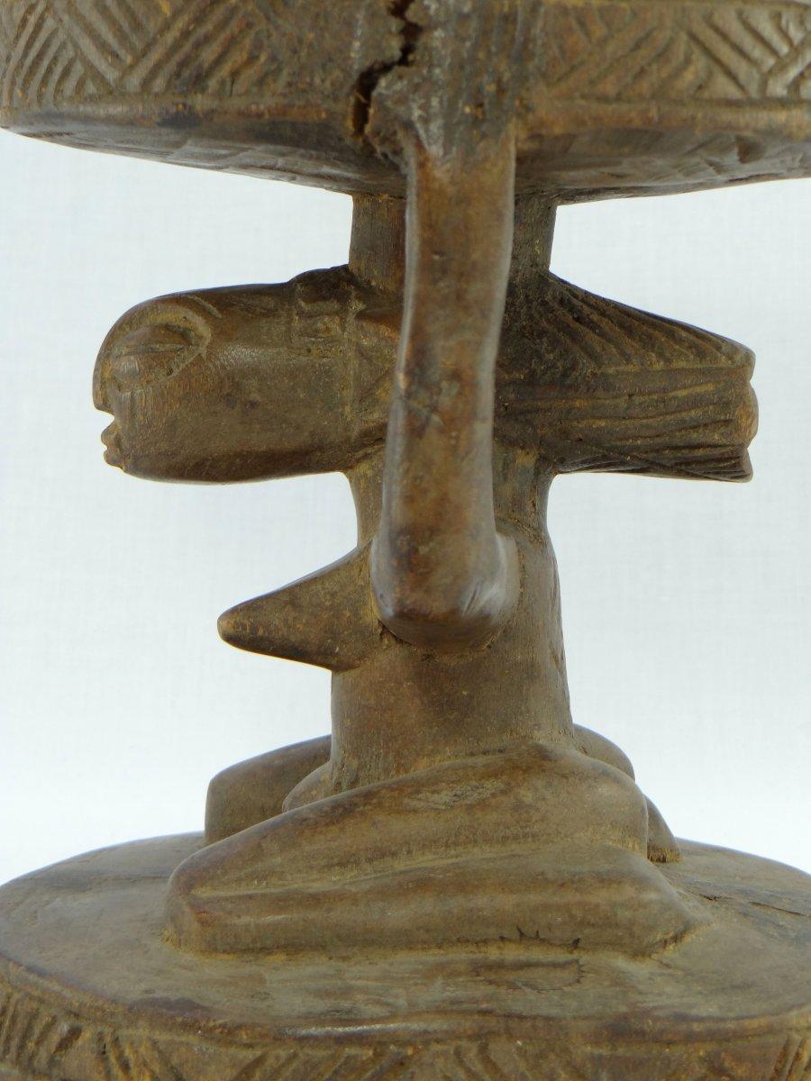 Rép. Dém. Du Congo,  Peuple Luba/Hemba, Siège Cariatide Bois Sculpté Personnage Féminin.  -photo-5