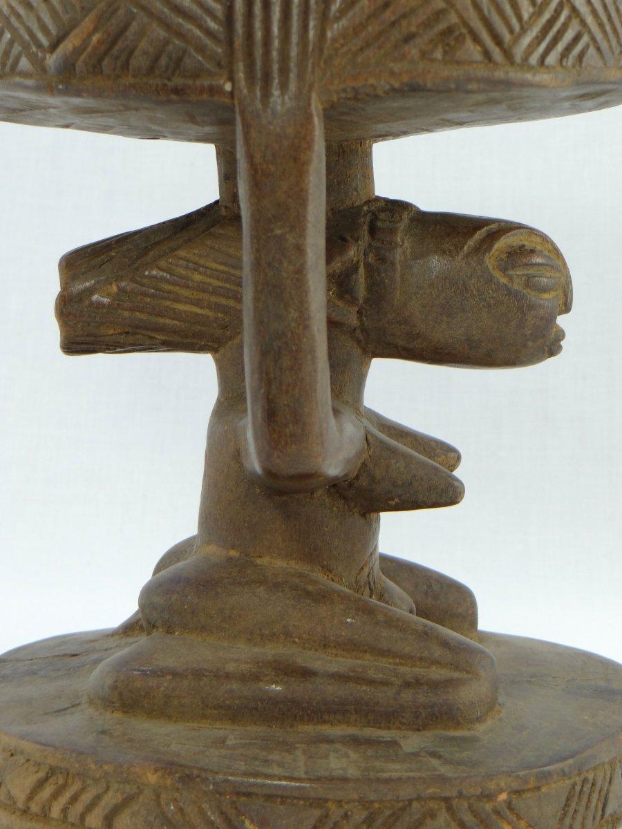 Rép. Dém. Du Congo,  Peuple Luba/Hemba, Siège Cariatide Bois Sculpté Personnage Féminin.  -photo-6